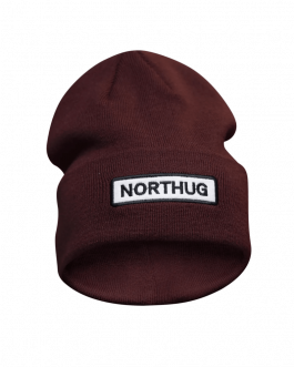 Northug Idre Ribbed Wool Beanie | Mössa | Chocolate truffle